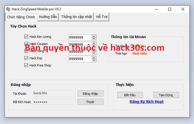 Hack ZingSpeed Mobile miễn phí Zingspeedhhda
