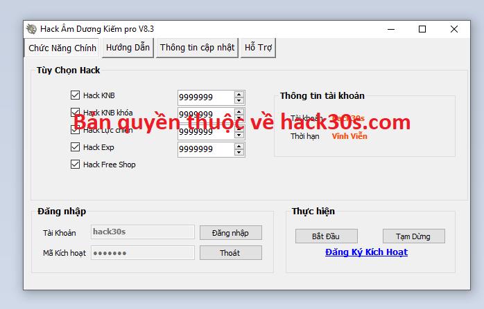 Hack Âm Dương Kiếm miễn phí Amduongkiemad