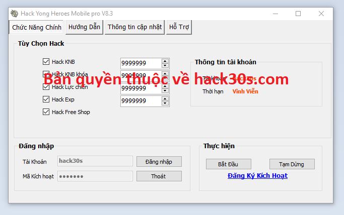 Hack Yong Heroes Mobile miễn phí Yongheroesffa
