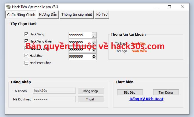 Hack Tiên Vực Mobile miễn phí Tienvucmobsaa