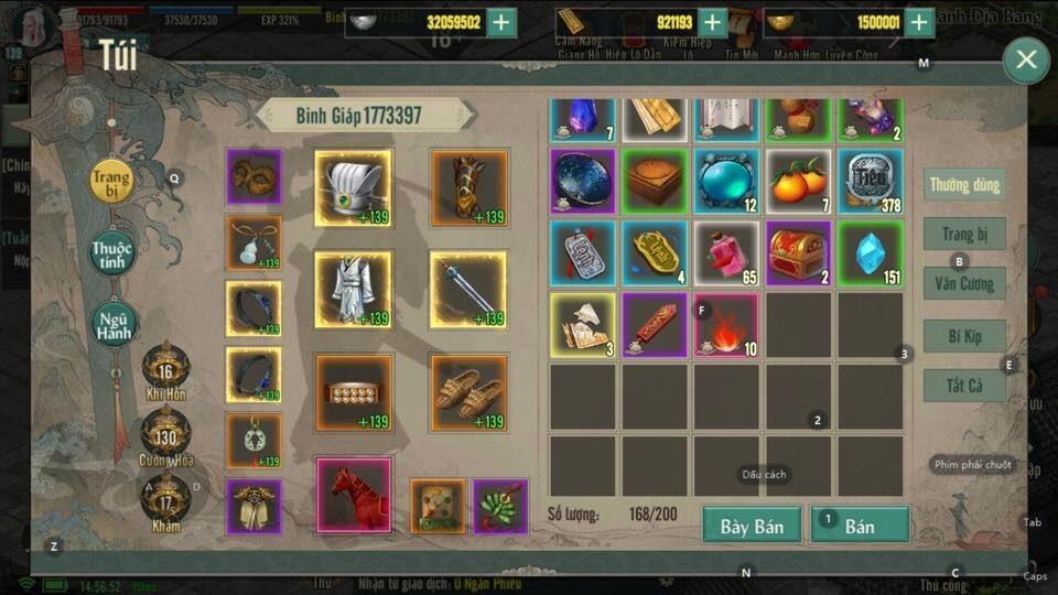 Khoe acc Võ Lâm Truyền Kỳ 1 Mobile víp nhất game là đây 226424613_527886871818623_226003139196621000_n